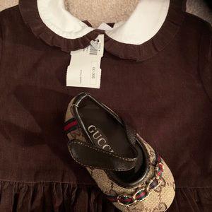 Cord dress brown